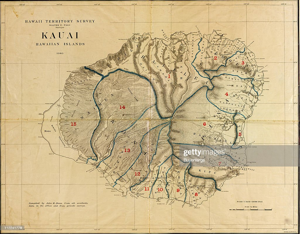 Map of the Island of Kauai, Hawaii, 1903. Illustration by Walter E Kauai Island Map on molokai island map, corpus christi island map, kauai hawaii, kihei island map, kauai places to visit, rome island map, new orleans island map, oahu map, kilauea map, lanai island map, mississippi island map, oregon island map, connecticut island map, ohio island map, lihue island map, maui island map, virginia island map, myrtle beach island map, san jose island map, hawaii map,