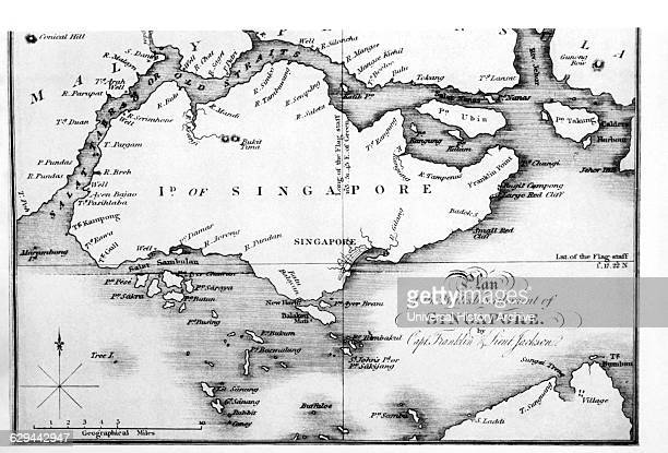 Map of the Island of Singapore from J Crawford's Embassy to Siam 1828