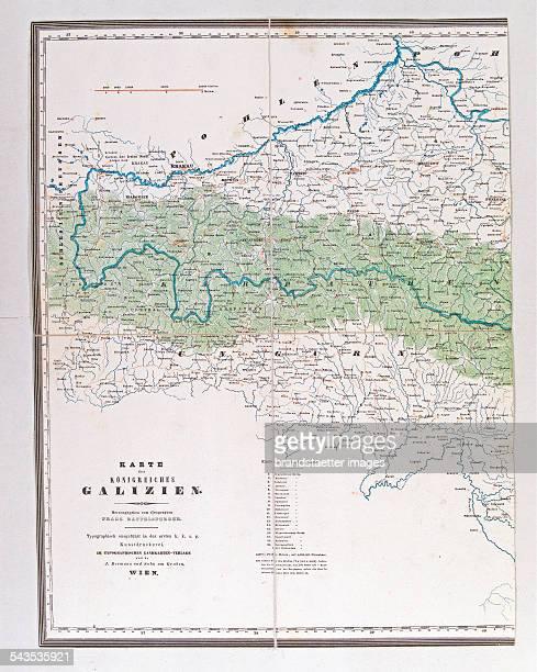 Map of the Kingdom of Galicia [Part 1] 1841 Colour lithograph Edited by Franzsperger Publisher J Berman / Vienna Printing Erste kk Kunstdruckerei /...