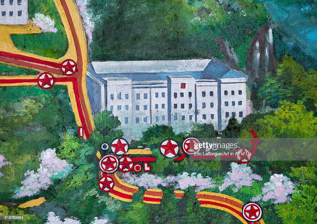 Map of the lim jong il stops in agriculture university Hamhung