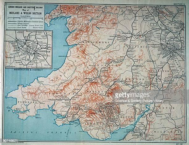 Map of the London Midland Scottish Railway c1930 Map of the Midland and Welsh section of the London Midland Scottish Railway