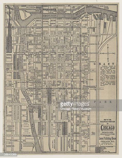 Map of the 'Loop' area of Chicago Illinois 1911