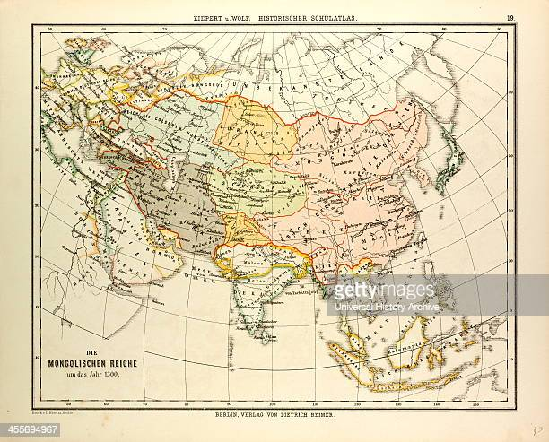 Map Of The Mongolian Empire In 1300
