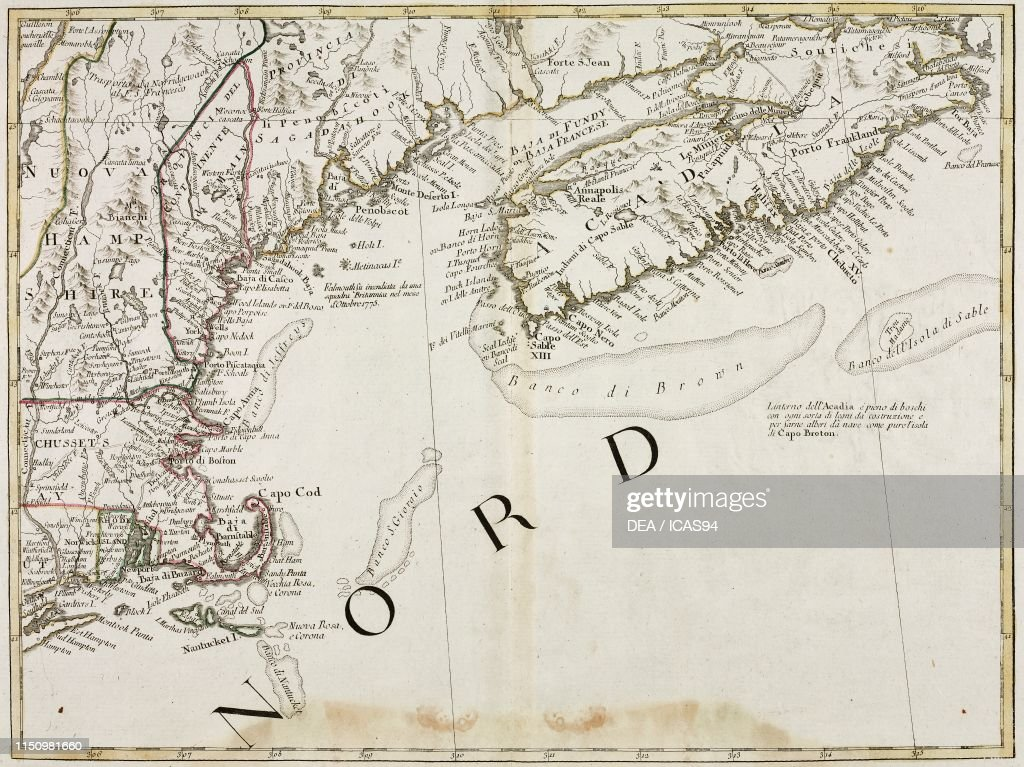 Picture of: Map Of The North East Coast Of United States Of America Engraving News Photo Getty Images