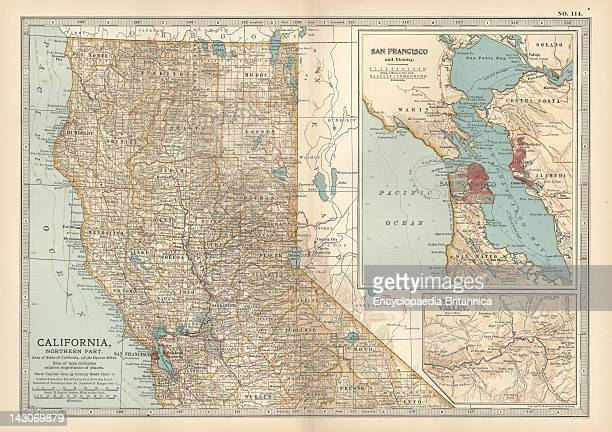 Map Of The Northern Part Of California Map Of The Northern Part Of California United States With Inset Maps Of San Francisco And Yosemite Valley...