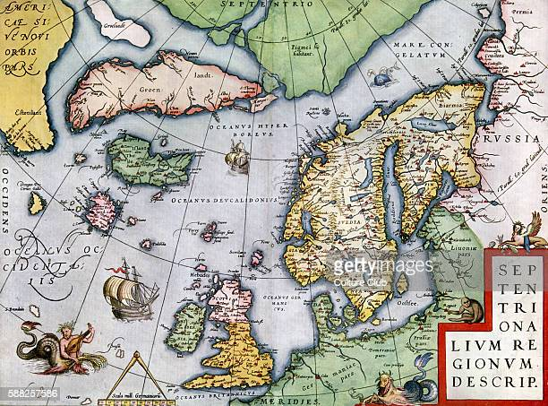 Map of the Northern Regions in Theatrum Orbis Tearrarum by Ortelius 1570