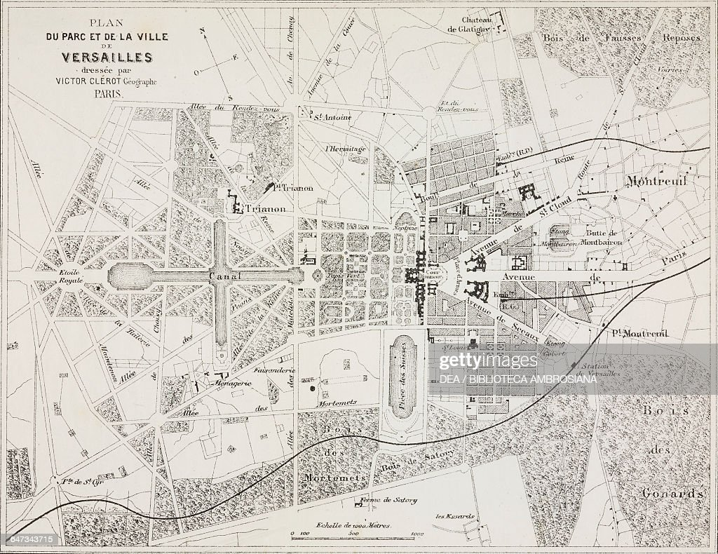 Map Of Versailles Stock Photos and Pictures Getty Images