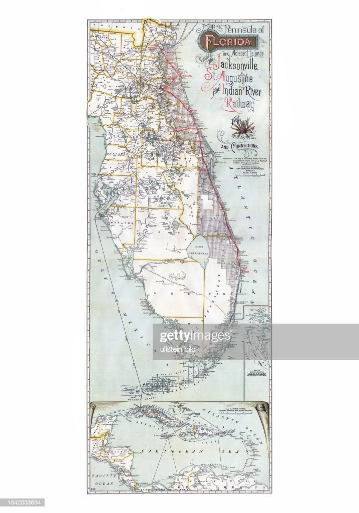 Map of the peninsula of Florida and adjacent islands : East ...