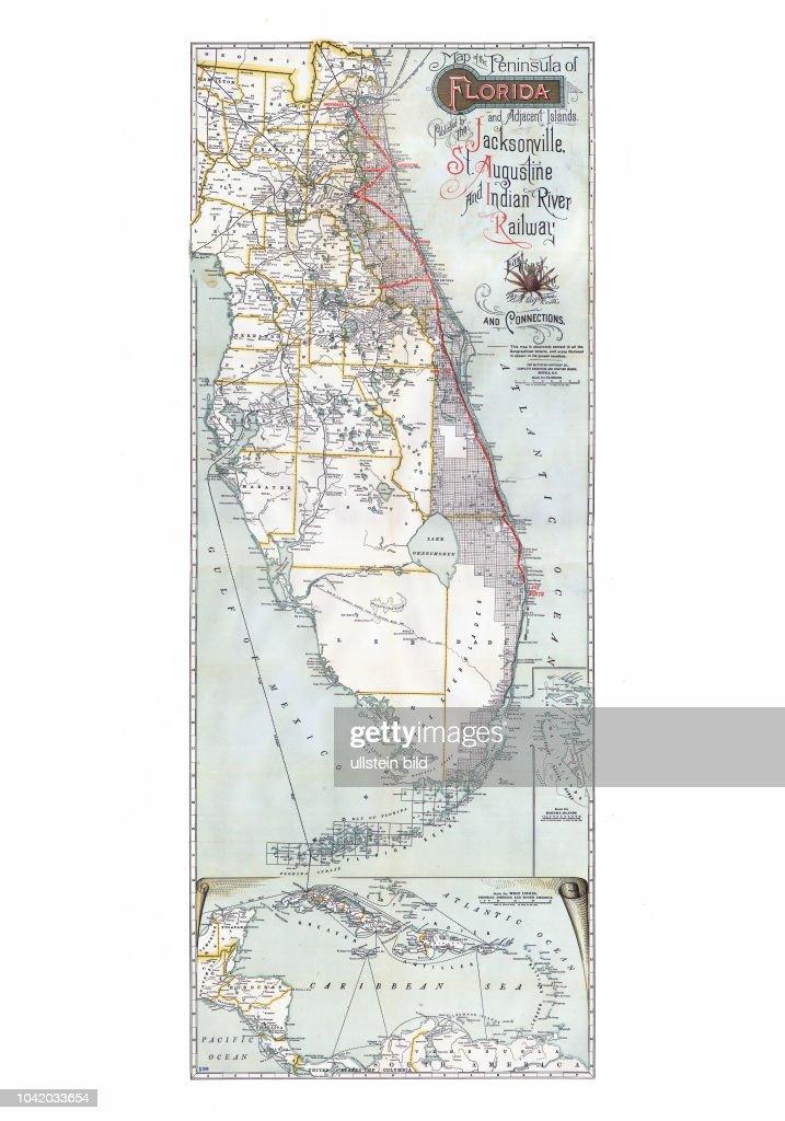 Florida Map East Coast.Map Of The Peninsula Of Florida And Adjacent Islands East Coast