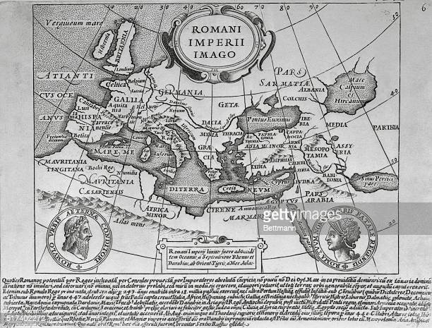 Map of the Roman Empire Engraving 18th century