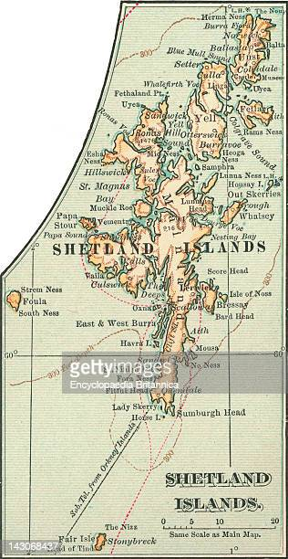 Map Of The Shetland Islands Map Of Shetland Islands Scotland Circa 1902 From The 10Th Edition Of Encyclopaedia Britannica
