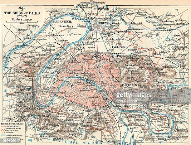 'Map of The Siege of Paris 187071' 1907 The Siege of Paris and the consequent capture of the city by Prussian forces led to French defeat in the...