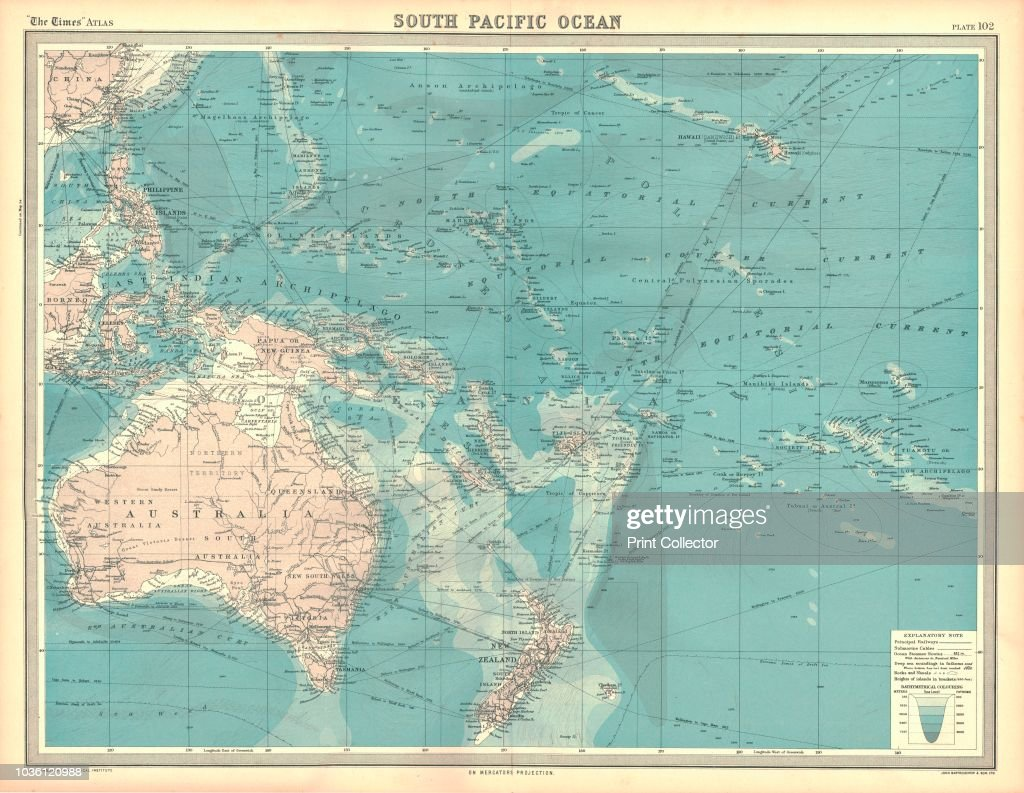 Map Of The South Pacific Ocean Artist Unknown Pictures | Getty Images