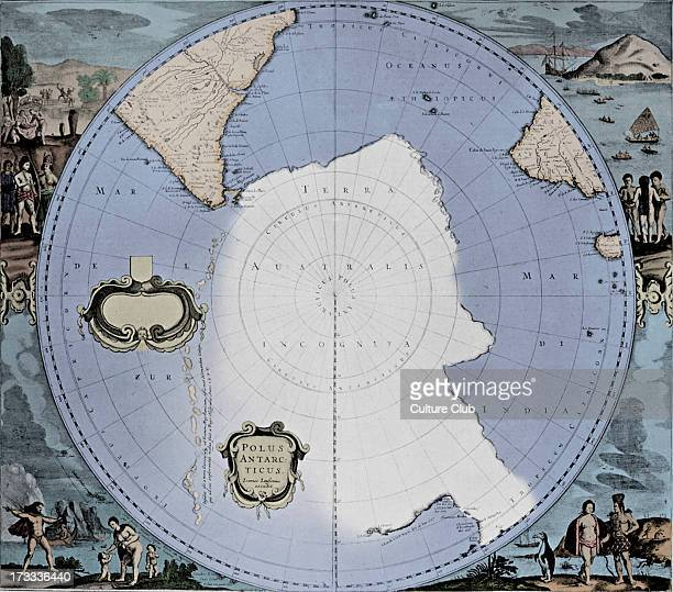 Map of the South Polar Regions published in Jansson 's 'Novus Atlas' 1658