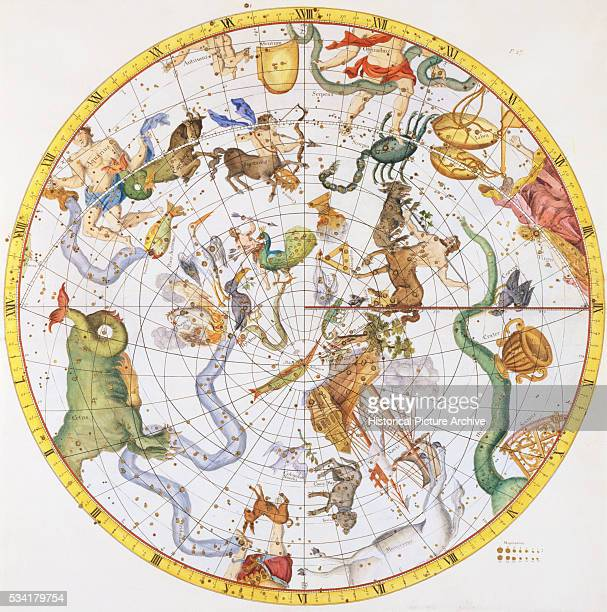 Map of the Southern Constellations by Sir James Thornhill