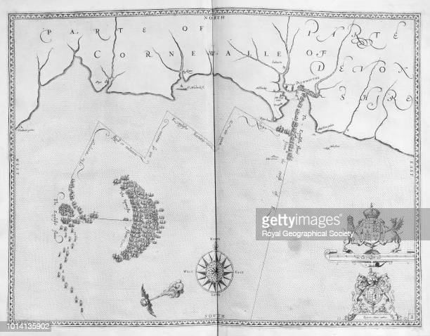Map of 'the Spanishe fleete' and 'the Englishe fleete' from Plymouth Engraved Augustine Ryther 1590 From 'Expeditionis Hispanorum in Angliam' United...