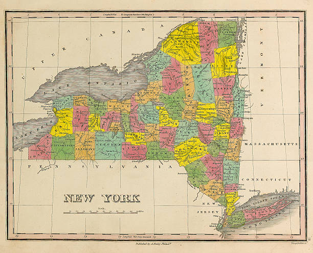 1826 Map of New York State Pictures | Getty Images