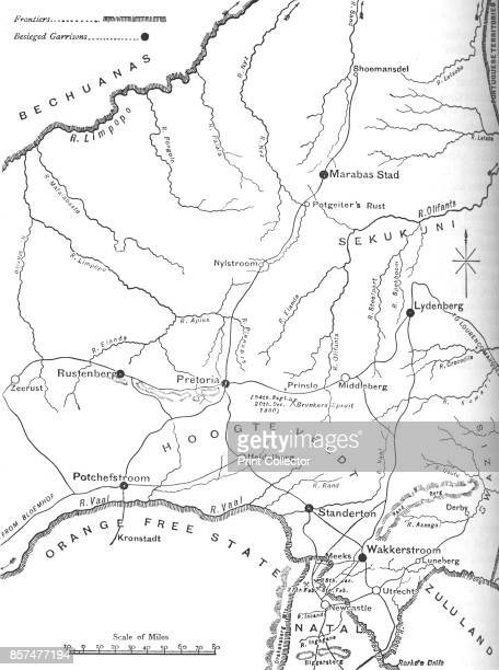 Map of the Theatre of War in the Transvaal' circa 1880 Episode of the First Boer War From British Battles on Land and Sea Vol IV by James Grant...