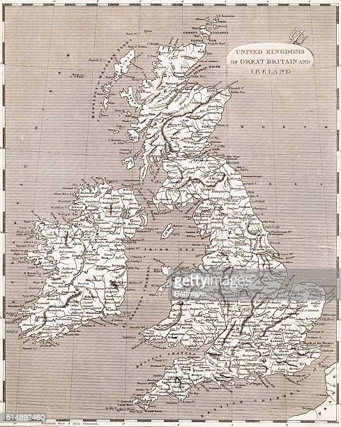 Map of the United Kingdoms of Great Britain and Ireland