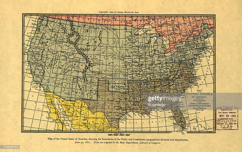 Map of the United States as it was in 1861 , 1861 ...