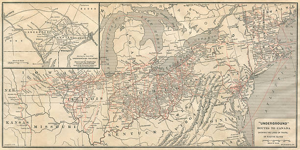 Map Of The Underground Railroad, Traveled By Fugitive Slaves ...