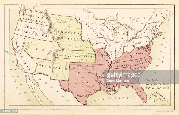 Map From \'American Slavery And Colour\' Pictures | Getty Images