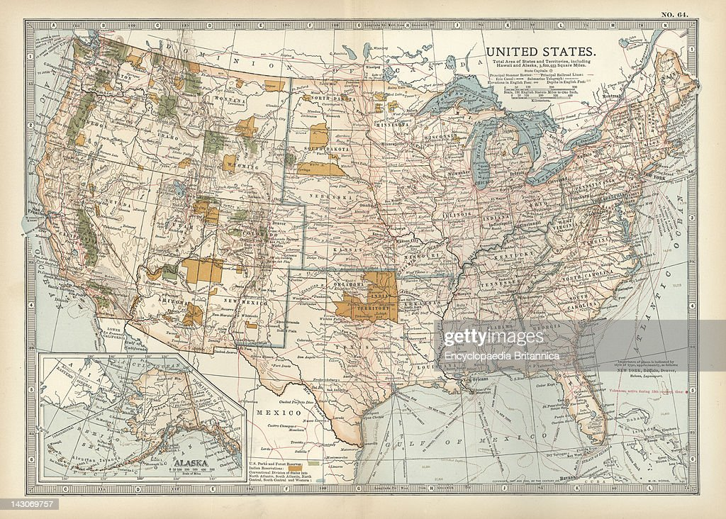 Map Of The United States With Inset Of Alaska, Map Of United ...