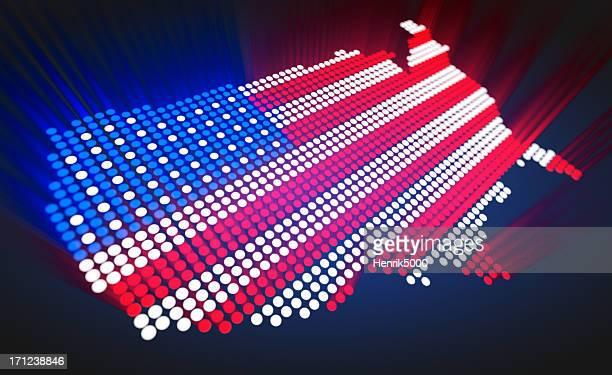 karte der usa-led-stil - politische wahl stock-fotos und bilder