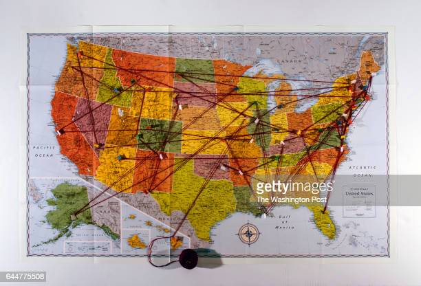 World\'s Best Map Of Usa Showing States Stock Pictures ...