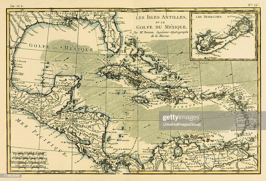 Map of the west indies and the mexican gulf circa1760 from atlas map of the west indies and the mexican gulf circa1760 from gumiabroncs Image collections
