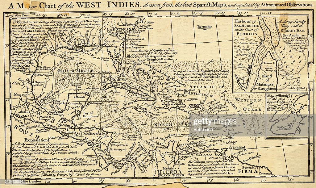 Map of the West Indies. From \'A New History of Jamaica\'. London ...