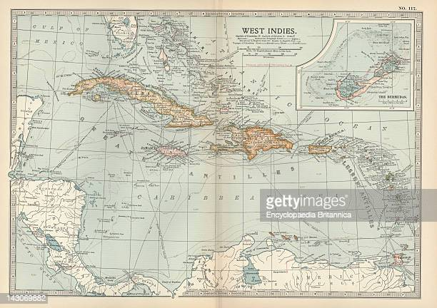 Map Of The West Indies Map Of The West Indies Circa 1902 From The 10Th Edition Of Encyclopaedia Britannica