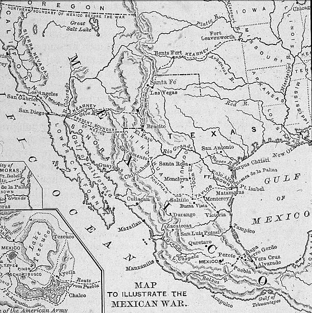 Map Illustrating Mexican-American War Wall Art