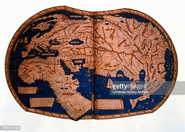 Map of the World by Henricus Marcellus 1489