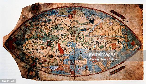 Map of the World by Paolo Toscanelli Illustration circa 1457