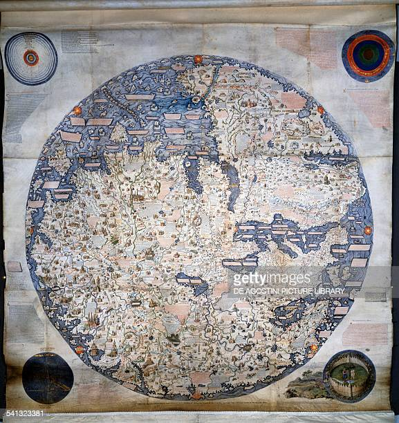 Map of the world made by Fra' Mauro and Andrea Bianco Venice ink and gouache on parchment 196x193 cm Italy 15th century Venice Biblioteca Nazionale...