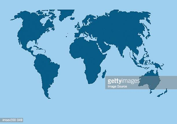 World map stock photos and pictures getty images map of the world gumiabroncs Images