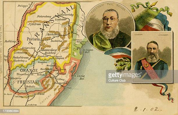 Map of Transvaal and the Orange Free State Portraits of General Joubert and President Kruger Piet Joubert was the CommanderGeneral of the South...
