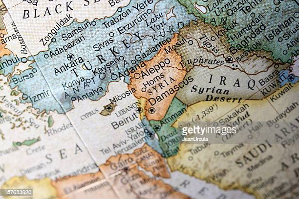 Map of Turkey and the Middle East