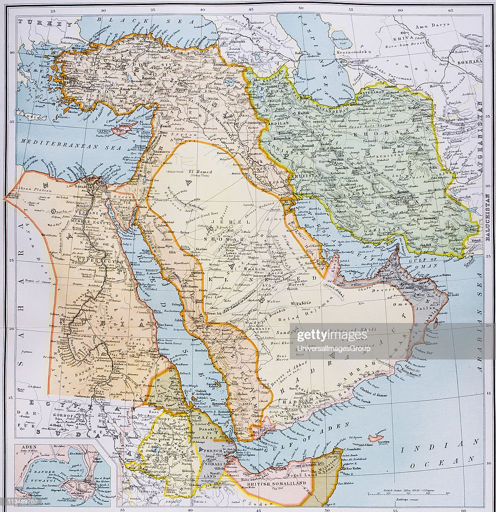 Map of Turkey Middle East Horn of Africa and Persian Gulf in