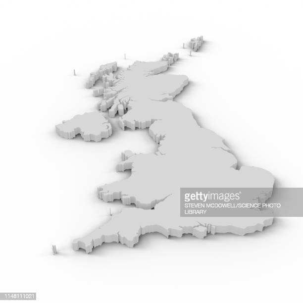 map of united kingdom - maps stock photos and pictures