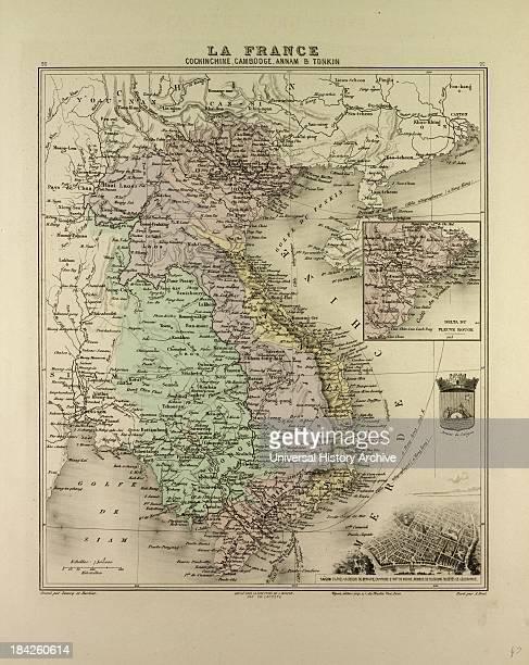 Map Of Vietnam Cambodia Thailand Laos 1896