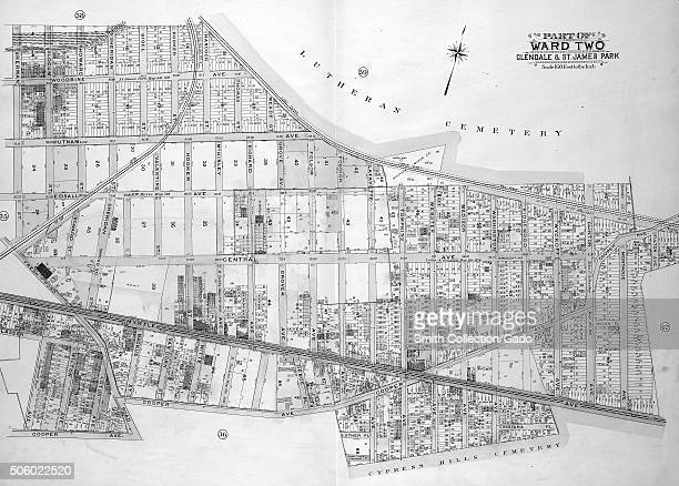 Map of Ward 2 in Queens New York with original caption reading 'Map bounded by Sherman St Slocum St Howard St Sheridan St Sigel St Hooker St Hancock...