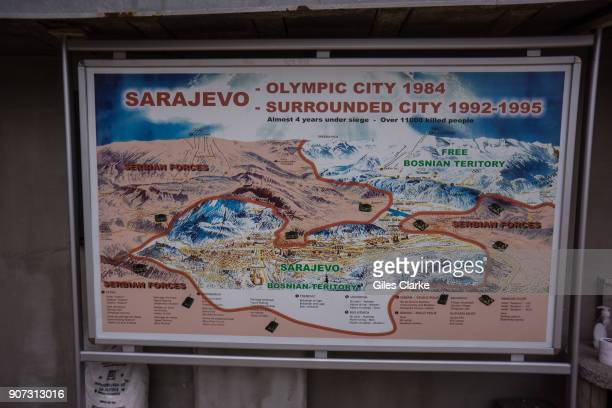 Map of wartime Sarajevo. In 1984,the Winter Olympics were held in Sarajevo, the capital of present-day Bosnia and Herzegovina. Ten years later, the...