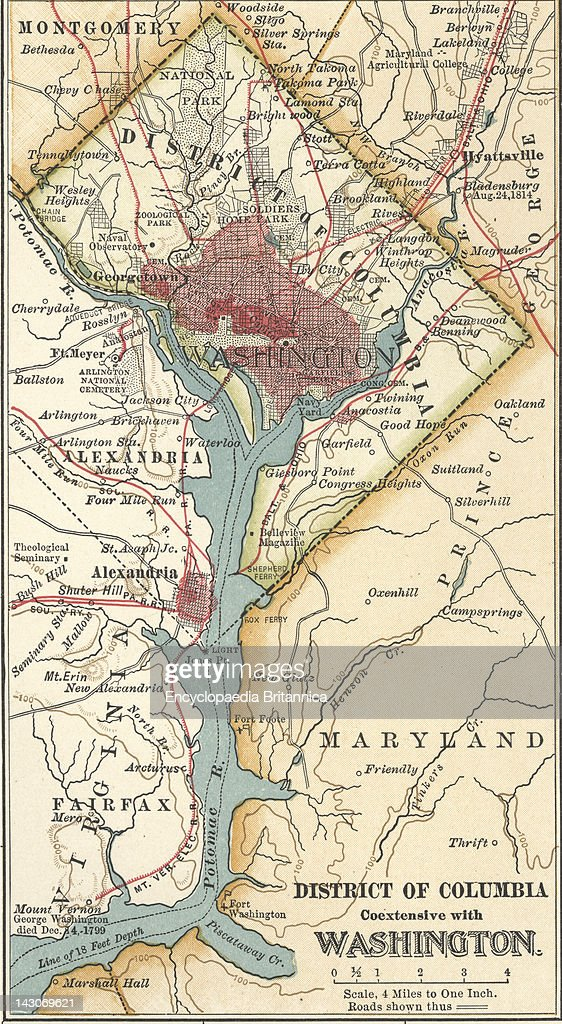Map Of Washington Dc, Map Of Washington, D.C, Circa 1900, From The ...