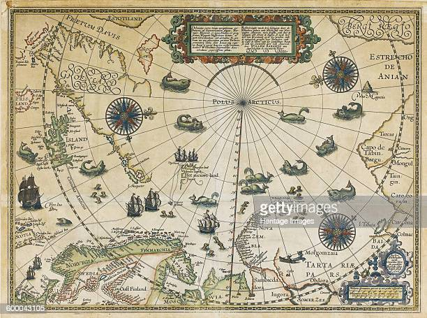 Map of Willem Barentsz Third Voyage 1598 Private Collection Artist Claesz Cornelis
