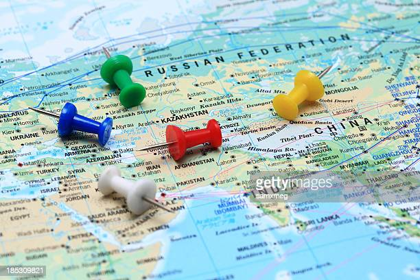 map of world - china east asia stock pictures, royalty-free photos & images