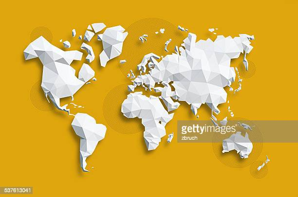 map of world - cartography stock photos and pictures