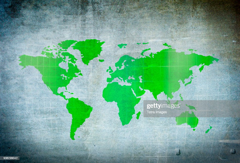 Map of world : Stock Photo