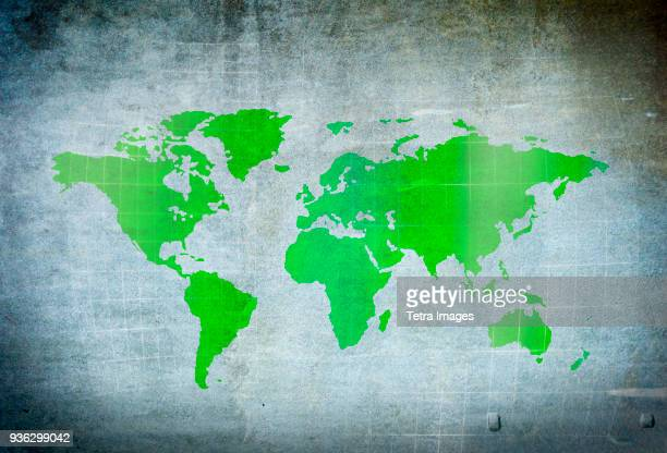 map of world - world map stock photos and pictures